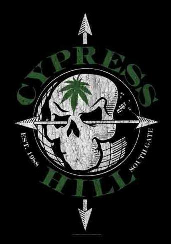 Cypress Hill - Vintage Skull Fabric Poster