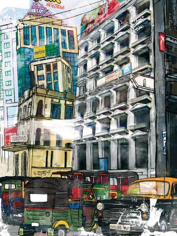 Bolly City Framed Art Print