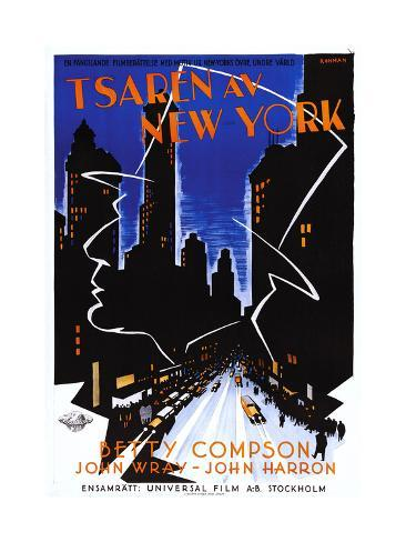 Czar of Broadway, (aka Tsaren Av New York), Swedish Poster Art, 1930 Giclee Print