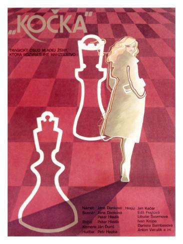 Czech Kocka Chess Movie Poster Giclee Print