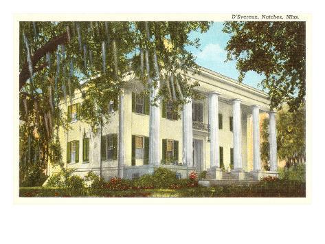 D'Evereux Mansion, Natchez, Mississippi Art Print