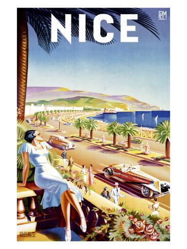Nice, Riviera Beach Resort Giclee Print