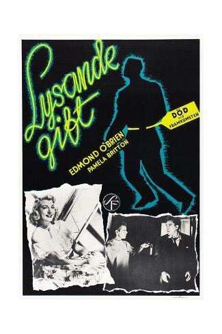 D.O.A., (aka Lysande Gift), Swedish Poster Art, 1950 Gicléetryck