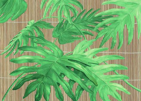 Tropical Leaves I Art Print