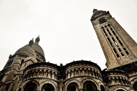 Detail of the Basilica of the Sacred Heart of Paris Photographic Print