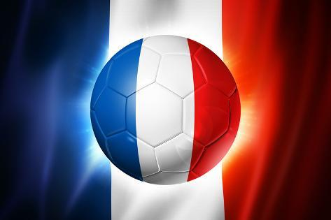 soccer football ball with france flag prints by daboost at