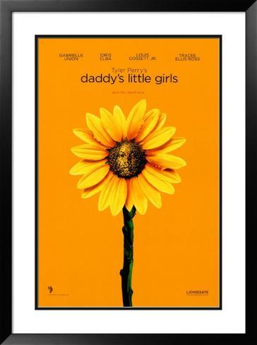 Daddy's Little Girl's Impressão artística emoldurada