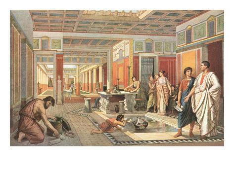 Daily Life in Pompeii Art Print