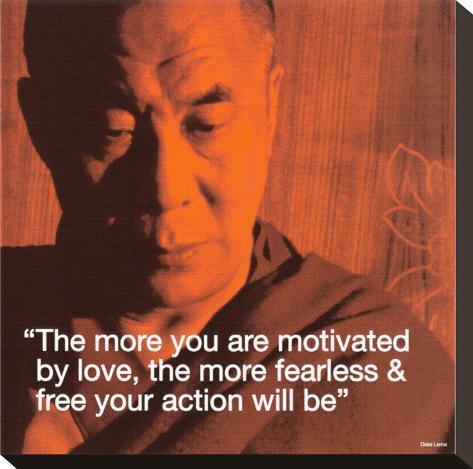 Dalai Lama: Fearless & Free Stretched Canvas Print