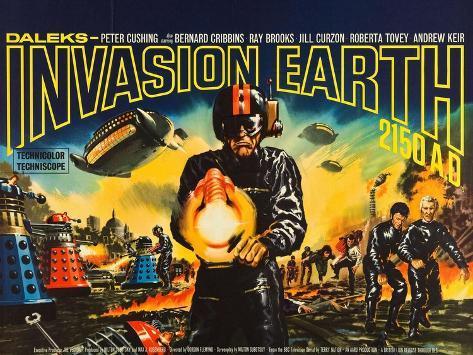 Daleks' Invasion Earth: 2150 A.D., British poster art, 1966 Art Print