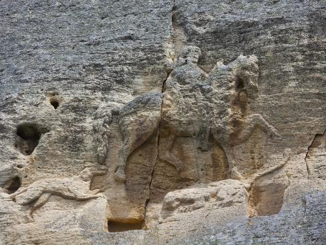 The Madara Rider, an 8th Century Relief Depicting a King on Horseback Carved into Rockface, UNESCO  Photographic Print