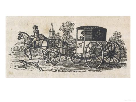 Dalmatian Coach Dog Guarding a Carriage Lámina giclée