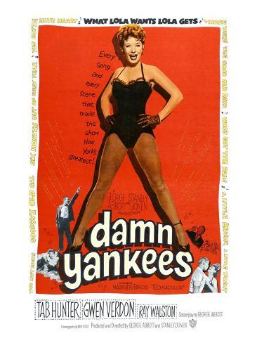 Damn Yankees, Ray Walston, Gwen Verdon, Tab Hunter, 1958 Photo