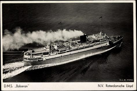 Dampfer D.M.S. Baloeran, Rotterdamsche Lloyd Stampa giclée