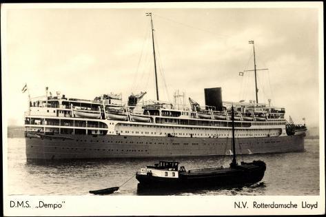 Dampfer D.M.S. Dempo, Rotterdamsche Lloyd Stampa giclée