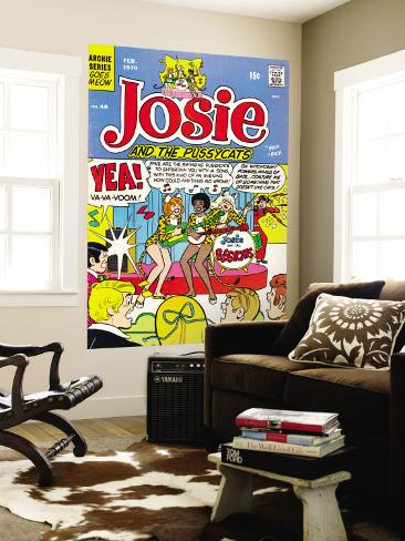 Archie Comics Retro: Josie and The Pussycats Comic Book Cover No.46 (Aged) Wall Mural