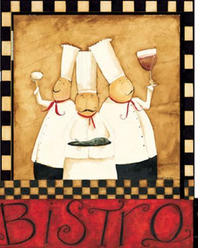 Three Chefs Wine Bistro II Art Print