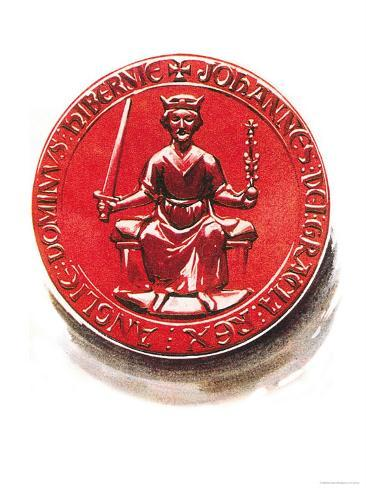 King John's Seal, as Affixed to the Great Charter Giclee Print