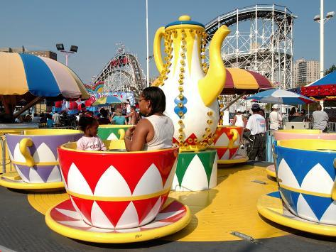 Coney Island Attractions, New York City, New York Photographic Print