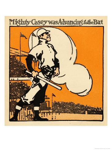 Mighty Casey Advancing to the Bat Giclee Print