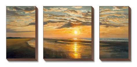 Lugn på stranden|Seashore Tranquility Konst på kanvas (set)