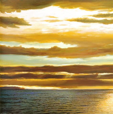 Reflections on the Sea I Framed Art Print
