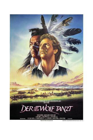 Dances with Wolves Art Print