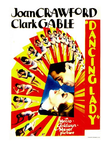 Dancing Lady, Clark Gable, Joan Crawford on Midget Window Card, 1933 Photo