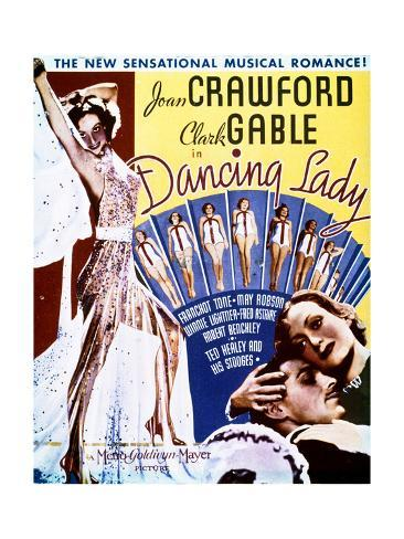 Dancing Lady - Movie Poster Reproduction Premium Giclee Print