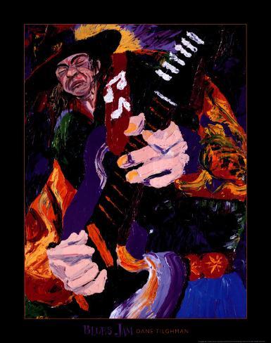 Blues Jam Impressão em tela emoldurada