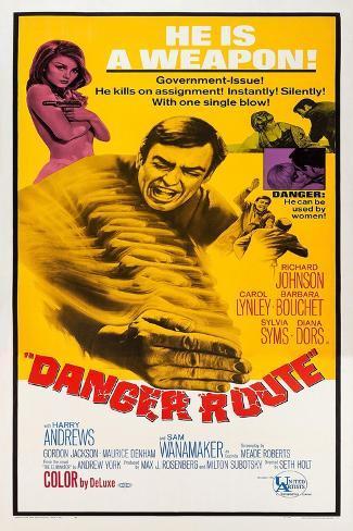 Danger Route Art Print
