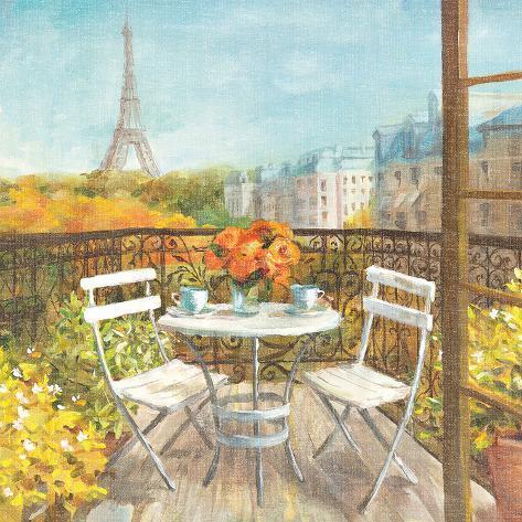 September in Paris Crop Art Print