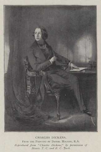 Charles Dickens Lámina giclée