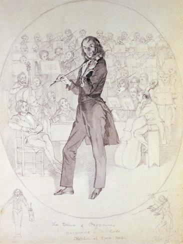Niccolo Paganini (1784-1840), Violinist Lámina giclée