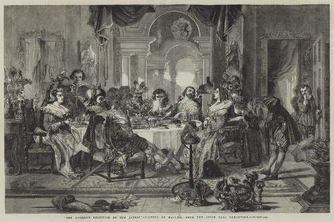 The Author's Reception by the Actors Lámina giclée