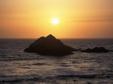 Seal Rock at Sunset, San Francisco, CA Photographic Print