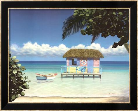 Island Hut Framed Art Print