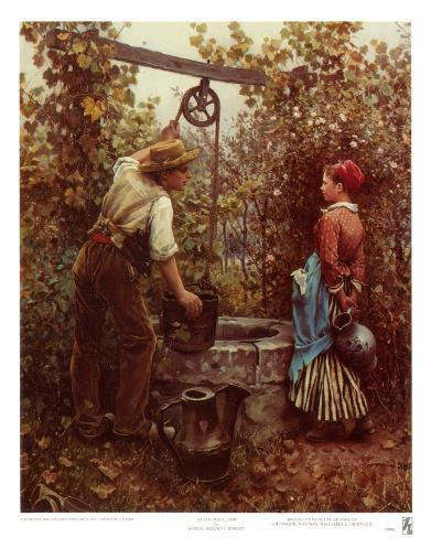 At the Well Art Print