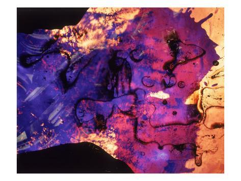 Abstract Image in Blue and Magenta Giclee Print