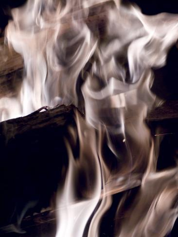 Fire and Wood Photographic Print
