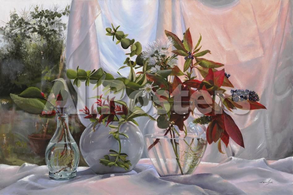Fiori 94.Fiori E Sfumature Rosse Giclee Print By Danka Weitzen At