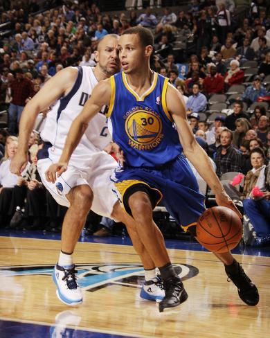 Golden State Warriors v Dallas Mavericks: Stephen Curry and Jason Kidd Photo