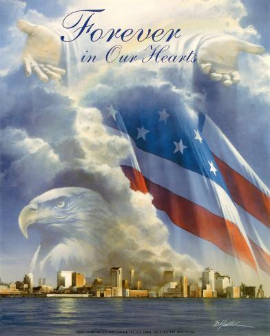 World Trade Center Collage Art Print