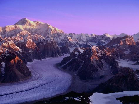 Mount McKinley and Ruth Glacier Photographic Print