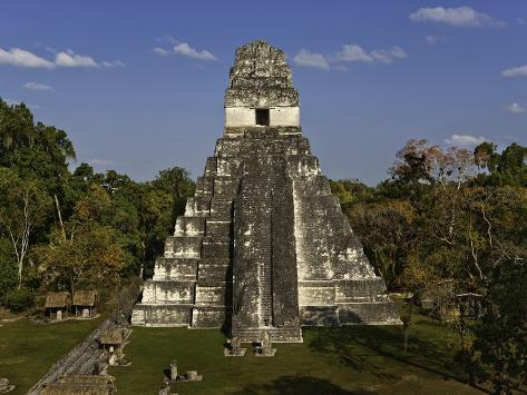 Temple I or Temple of the Giant Jaguar at Tikal Photographic Print