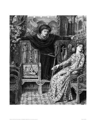 Hamlet and Ophelia, c. 1858 Giclee Print