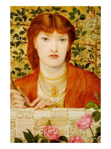 Regina Cordium; Queen of Hearts Art Print