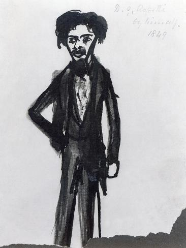 Self Portrait, 1849 Gicléetryck