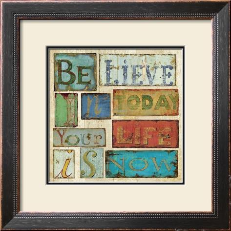 Believe and Hope I Framed Art Print