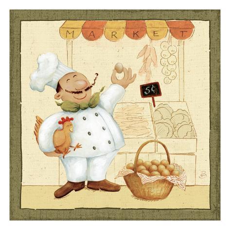 Chef's Market I Premium Giclee Print